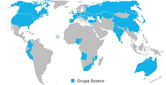 Grupa Asseco - lokalizacje